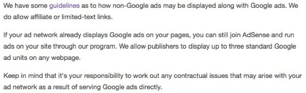 can we use adsense and affiliate ads together
