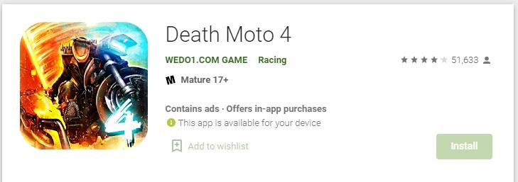 Death moto 4 - Bike wala game