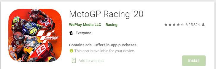 Moto gp 2020 - Bike wala game